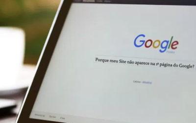 Porque meu site não aparece na 1ª pagina do Google?